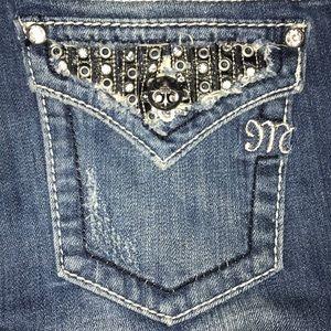 Miss me rhinestone bootcut jeans 25